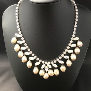 Vintage rhinestone and pearl necklace